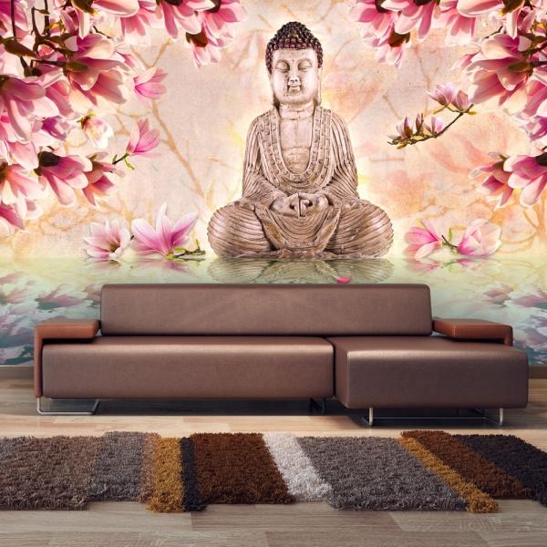 Fototapeta - Budda i magnolia (450x270 cm) A0-F4TNT0072-P