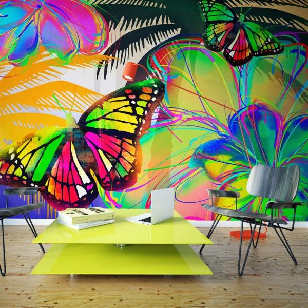 Fototapeta - Butterflies in the stomach (450x270 cm) A0-F4TNT0525