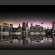 Fototapeta - Colorful glow over NYC A0-LFTNT0698