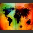 Fototapeta - Czarne kontynenty, kolorowe oceany... A0-LFTNT0410