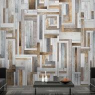 Fototapeta - Drewniany labirynt (50x1000 cm)