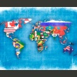Fototapeta - Flags of countries A0-LFTNT0464