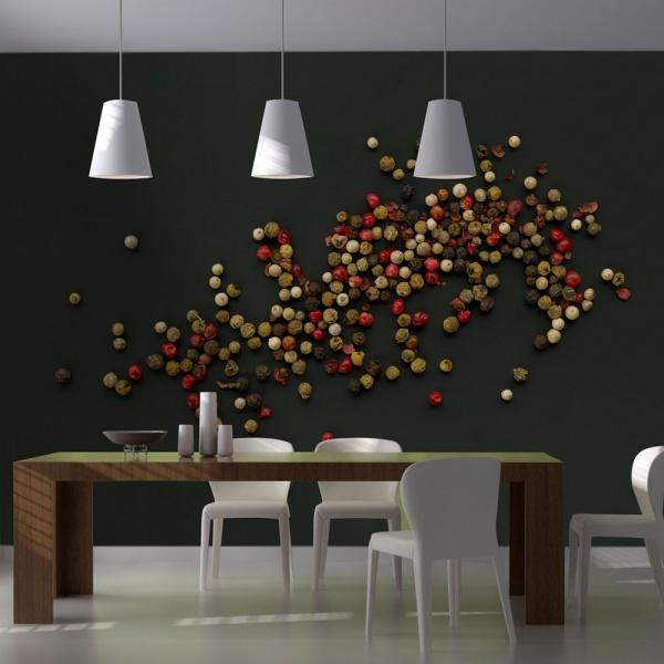 Fototapeta - Kompozycja z kolorowego pieprzu (200x154 cm) A0-LFTNT0486