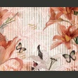 Fototapeta - Kwiaty i motyle A0-LFTNT0538