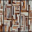 Fototapeta - Labirynt z drewnianych desek A0-WSR10m215