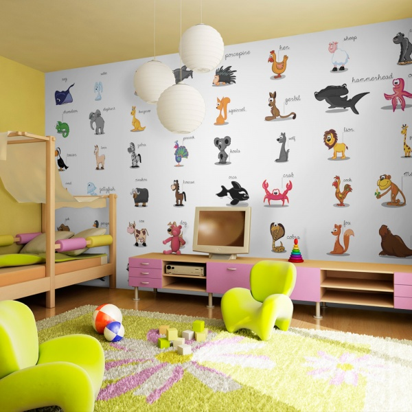 Fototapeta - Learning by playing (animals) (550x270 cm) A0-F5TNT0030-P