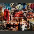Fototapeta - Londyński kolaż A0-LFTNT0679