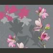 Fototapeta - magnolia (różowy) A0-LFTNT0526