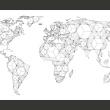 Fototapeta - Map of the World - white solids A0-F5TNT0094-P