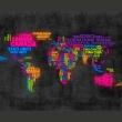 Fototapeta - mapa, po włosku - kolory A0-LFTNT0460