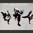 Fototapeta - Monkey dance - street art A0-LFTNT0610