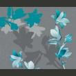 Fototapeta - Niebieskie magnolie A0-LFTNT0524