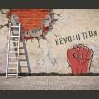 Fototapeta - Niewidzialna ręka rewolucji A0-LFTNT0616