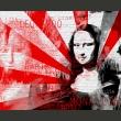 Fototapeta - Nowoczesny kolaż z motywem Mony Lisy A0-LFTNT0564