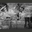 Fototapeta - Nowy Jork, czarno-biały, kolaż A0-LFTNT0685