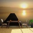 Fototapeta - pomost, jezioro, zachód słońca... A0-F5TNT0010-P