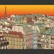 Fototapeta - Poranna kawa w Paryżu A0-LFTNT0709