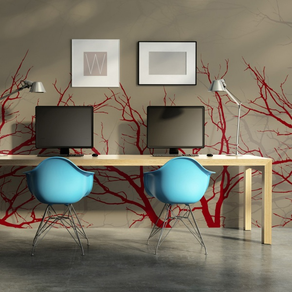 Fototapeta - Red-hot branches (450x270 cm) A0-F4TNT0014-P