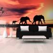 Fototapeta - słonie: rodzina A0-F5TNT0003-P