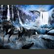 Fototapeta - Szafirowy wodospad A0-LFTNT0765