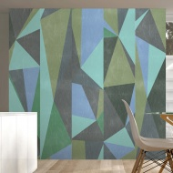 Fototapeta - Szare trójkąty (50x1000 cm)