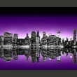 Fototapeta - The Big Apple in purple color A0-LFTNT0699