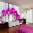 Fototapeta - Violet orchids with water reflexion A0-LFTNT0539