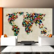 Fototapeta - World Map - a kaleidoscope of colors A0-LFTNT0462