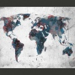 Fototapeta - World map on the wall A0-LFTNT0434