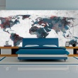 Fototapeta - World map on the wall A0-F5TNT0087-P
