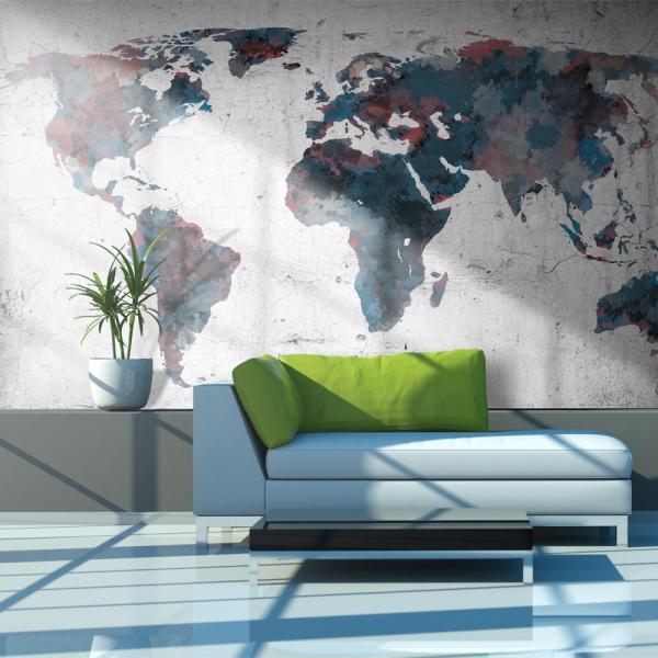 Fototapeta - World map on the wall (450x270 cm) A0-F4TNT0112-P