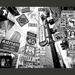 Fototapeta - Wszystkie drogi prowadzą na Manhattan A0-LFTNT0702