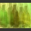 Fototapeta - Zielone butelki A0-LFTNT0878