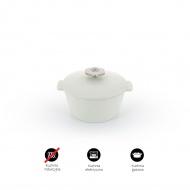 Garnek okrągły 1,5 L porcelanowy Revol Revolution biały