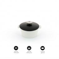 Garnek okrągły 1,5 L porcelanowy Revol Revolution czarny (na indukcję)