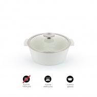Garnek okrągły 1,5 L porcelanowy Revol Revolution przezroczysty