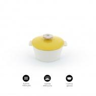 Garnek okrągły 1,5 L porcelanowy Revol Revolution żółty (na indukcję)