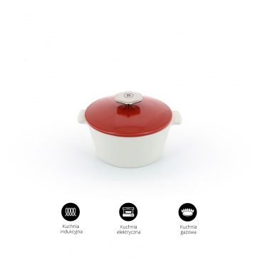 Garnek okrągły 2,4 L porcelanowy Revol Revolution czerwony