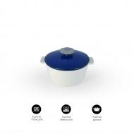 Garnek okrągły 2,4 L porcelanowy Revol Revolution niebieski (na indukcję)