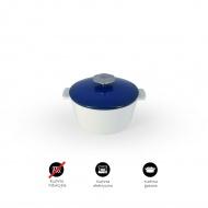 Garnek okrągły 2,4 l porcelanowy Revol Revolution niebieski