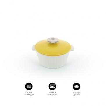 Garnek okrągły 2,4 L porcelanowy Revol Revolution żółty (na indukcję))