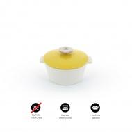 Garnek okrągły 2,4 L porcelanowy Revol Revolution żółty