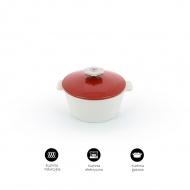 Garnek okrągły 2,4l porcelanowy Revol Revolution czerwony (na indukcję)