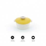 Garnek okrągły 2,4l porcelanowy Revol Revolution żółty (na indukcję)