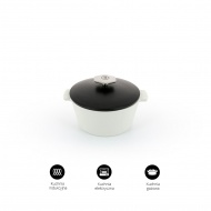 Garnek okrągły 3,4 L porcelanowy Revol Revolution czarny (na indukcję)