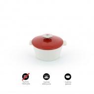 Garnek okrągły 3,4l porcelanowy Revol Revolution czerwony
