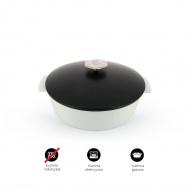 Garnek owalny 2,9 L porcelanowy Revol Revolution czarny