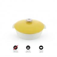 Garnek owalny 2,9 L porcelanowy Revol Revolution żółty