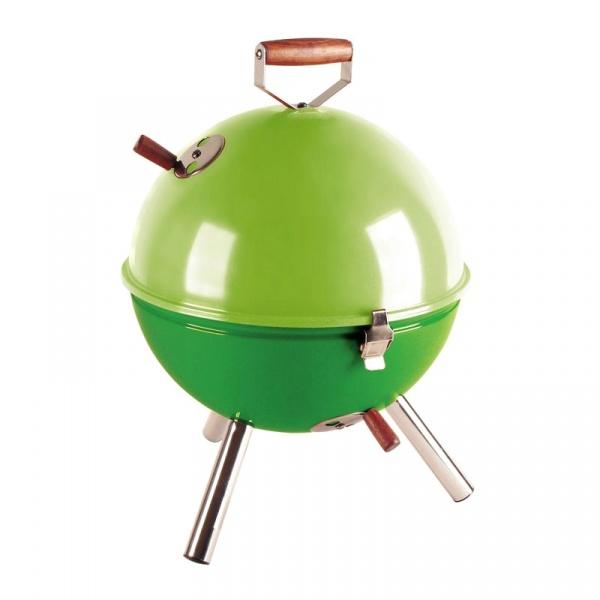 Grill okrągły 30 cm Contento Mini BBQ zielony CO-672055
