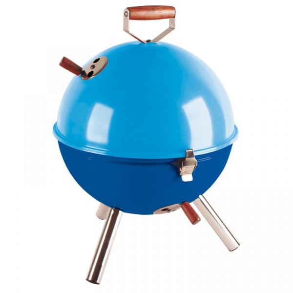 Grill okrągły Contento Mini BBQ niebieski CO-672058